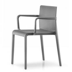 Volt 675 krzesło z podłokietnikami Pedrali Grafitowe