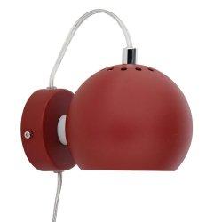 Lampa Ścienna BALL MAGNET WALL Frandsen czerwonodzawy/struktura mat
