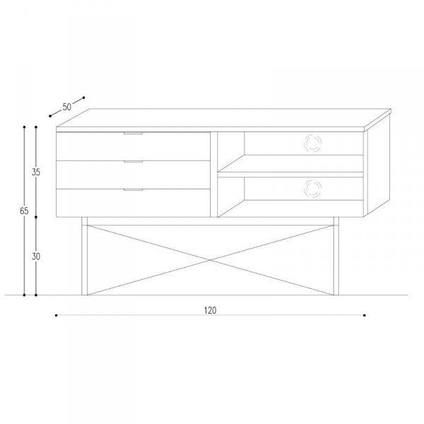 Stylowa szafka TV Minko Sideboard wymiary