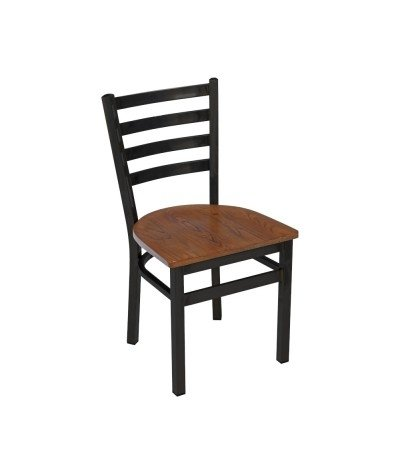 Industrialne krzesło Indus czarne wykończenie