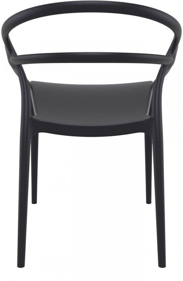 Krzesło Mila Siesta ciemny szary czarne