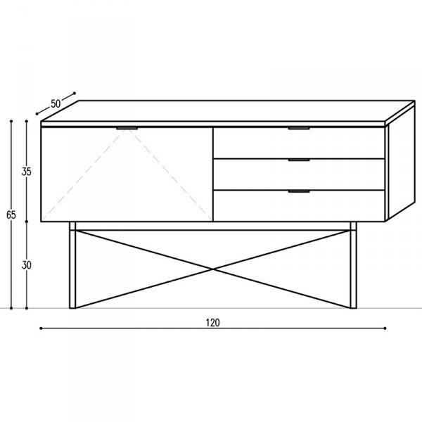 Szafka sideboard minko w stylu skandynawskim wymiary
