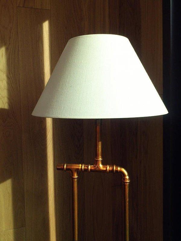 Designerska miedziana lampa stojąca LGH0010 Gie El