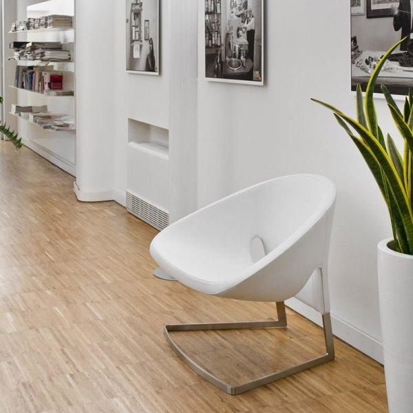 Skórzany fotel do nowoczesnych wnętrz Pedrali Joker 417