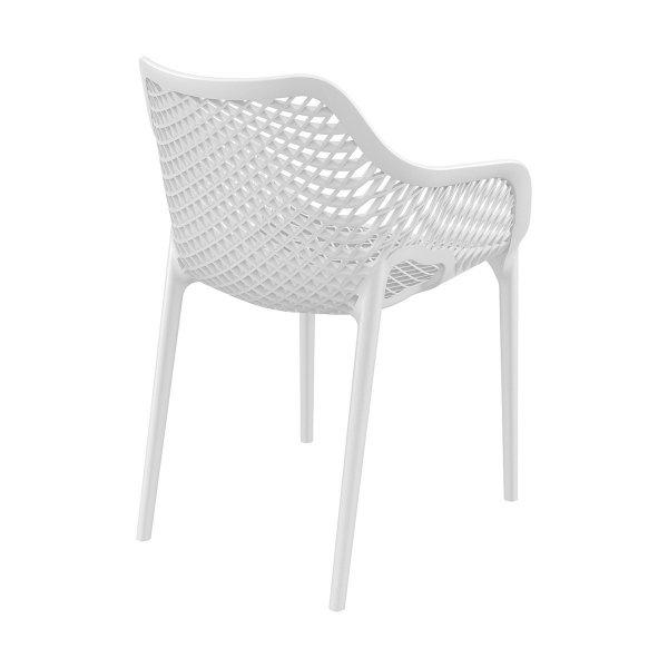 Krzesło posiada certyfikaty TÜV i Catas oraz objęte jest 3-letnią gwarancją producenta i może być użytkowane wewnątrz jak i na zewnątrz.