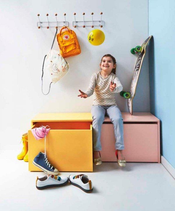 Skrzynia na zabawki z siedziskiem Flexa Play różowa