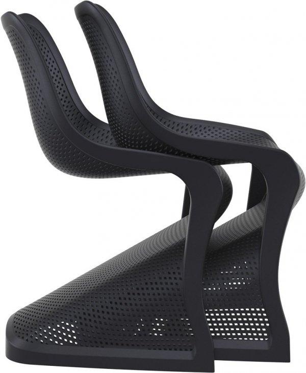 Krzesło Bloom Siesta z tworzywa czarne sztaplowanie