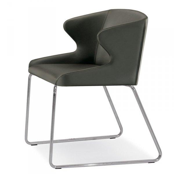 Stylowy fotel tapicerowany do wnętrz w stylu Glamour Leila 682