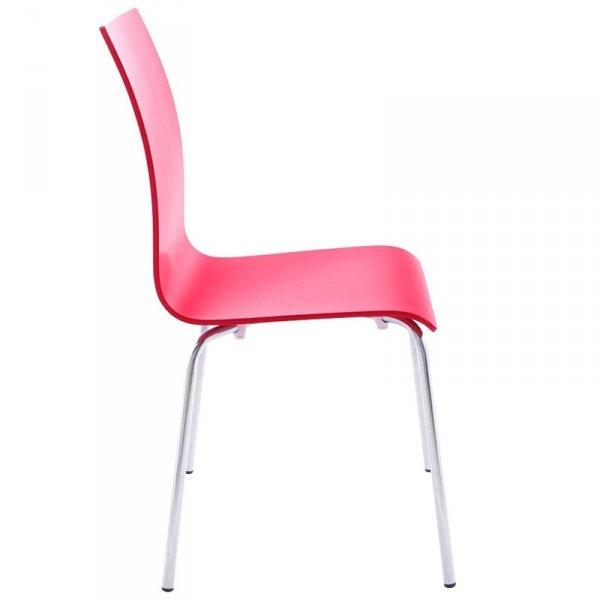 Classic stylowe krzesło do jadalni czerwone