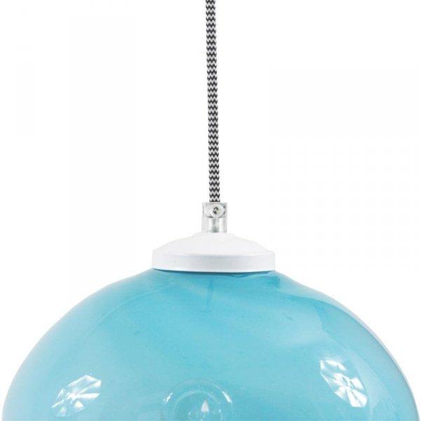 Lampa szklana Owal pastelowy turkus Gie El