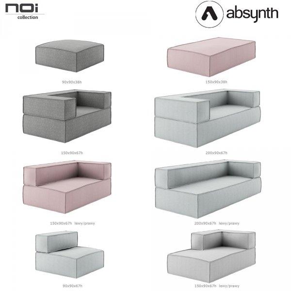Sofy, kanapy i fotele z serii Noi Absynth