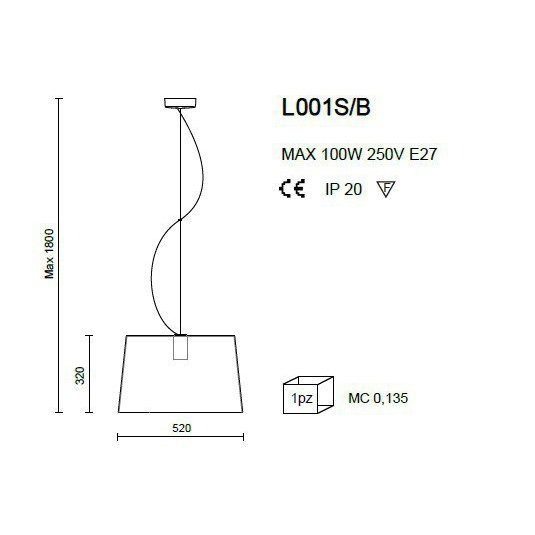 Lampa L001S/B Pedrali transparentna