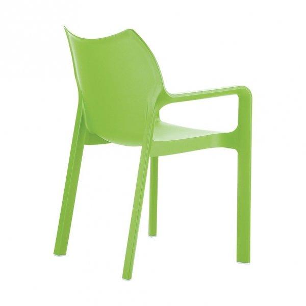Idealny mebel do ogrodów, na taras, do kawiarni, barów i hoteli. Dostępny w wielu kolorach. Fotel jest lekki oraz można go sztaplować.