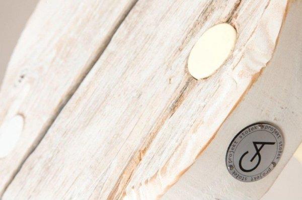 Stołek Dots Mini bielony z białymi nóżkami Projekt Stołek