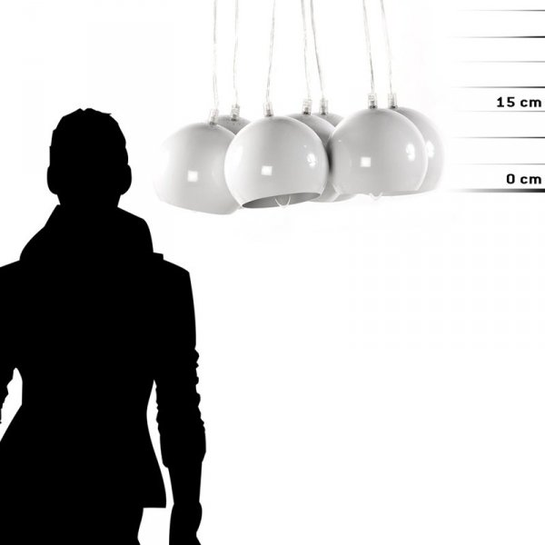 Nowoczesna lampa Eklektik Biała