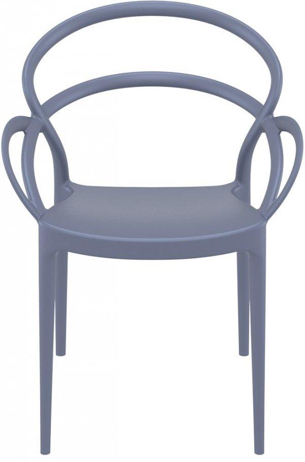Krzesło Mila Siesta ciemny szary