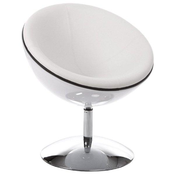 Sphere nowoczesny fotel biały
