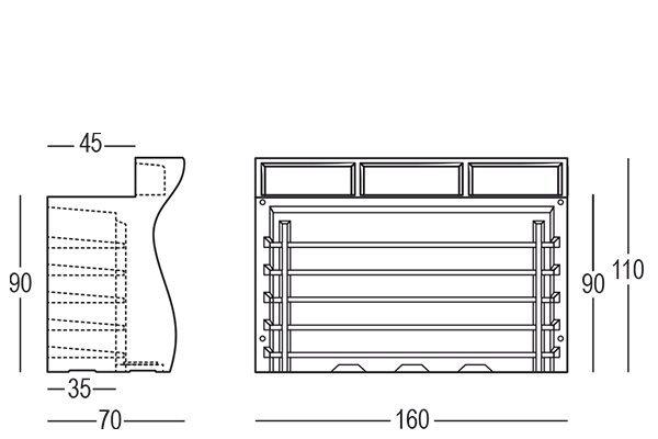 Bartolomeo bar zewnętrzny modułowy Plust