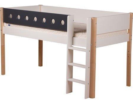 Łóżko dziecięce wysokie Flexa White