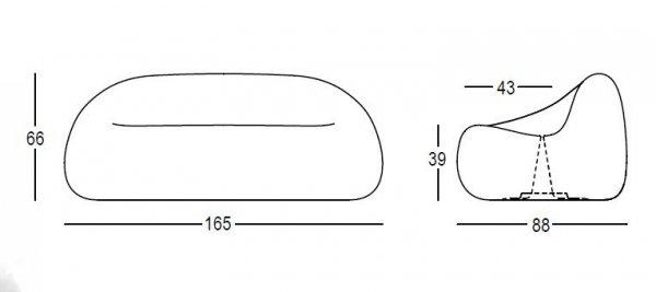 Sofa GUMBALL wymiary