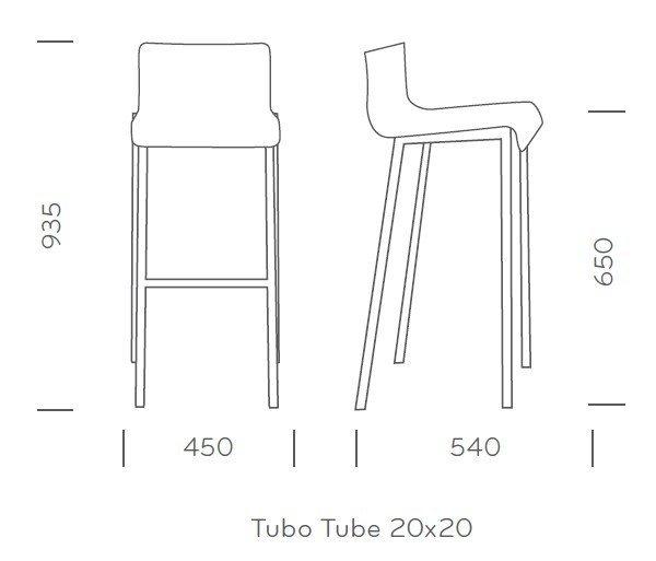 Kuadra 1102 Krzesło Barowe / Hoker Pedrali