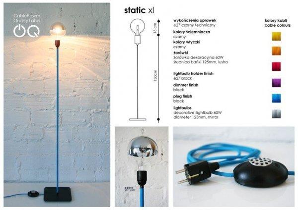 Static XL Lampa Stojąca CablePower