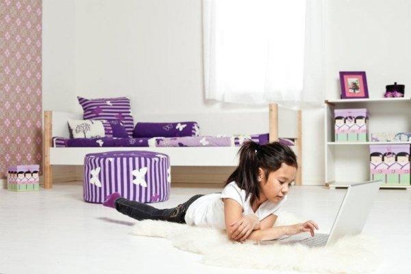 Łóżko dziecięce pojedyncze Flexa White