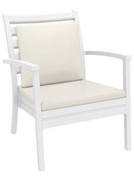Krzesło Artemis XL Siesta białe z poduszką