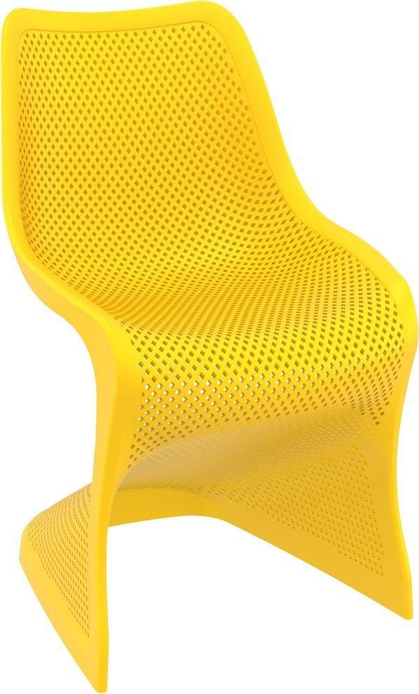 Krzesło Bloom Siesta z tworzywa żółte