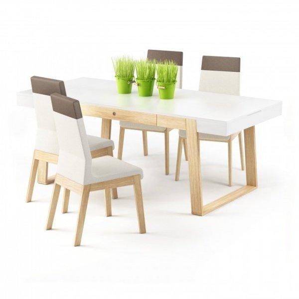 Idealny stół do posiłków, pracy, odrabiania lekcji, hobby i spotkań z przyjaciółmi.