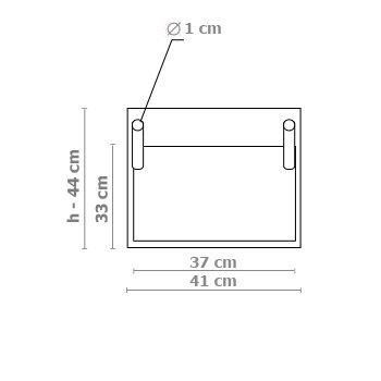 Donica kieszeniowa duża 41x44cm
