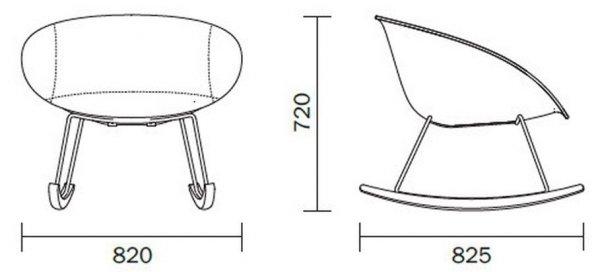 Gliss Swing 351 Fotel Bujany Pedrali