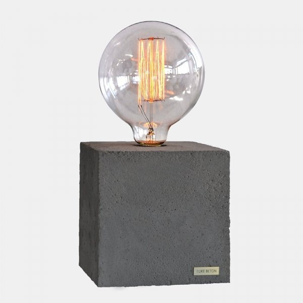 Designerskie oświetlenie wykonane z betonu