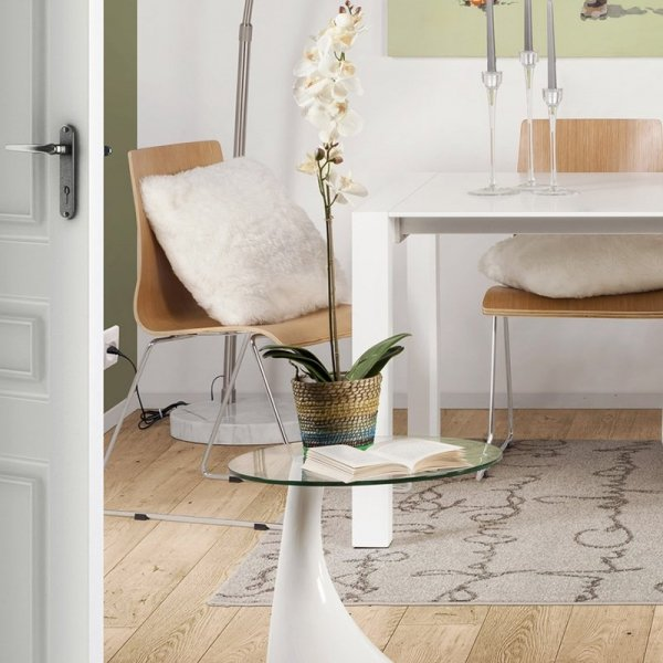 Designerski stolik Tear biały