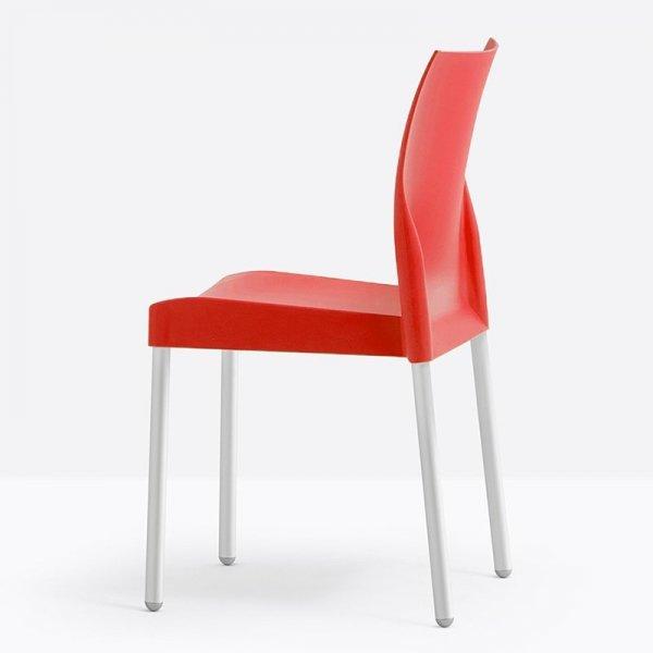 Piękne krzesło z tworzywa o ponadczasowej formie Ice Pedrali