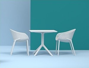 Stolik SKY Table 80 oraz krzesła Sky
