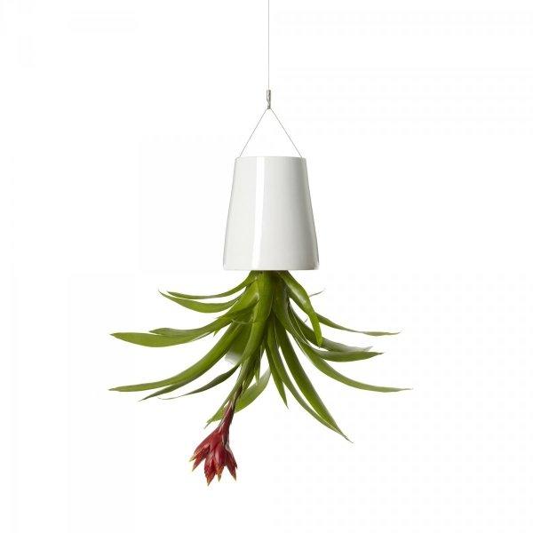 Boskke Sky Planter wisząca doniczka Ceramiczna Medium Biała