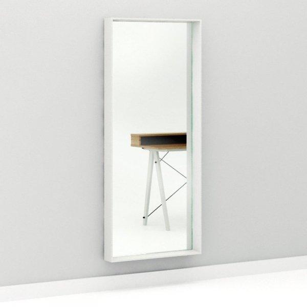 Stylowe lustro w drewnianej ramie Woodie Minko