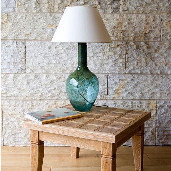 Lampka Stołowa szklana turkusowa LGH0071 Gie El
