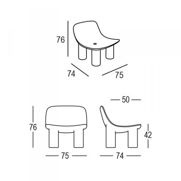 Wymiary stylowego fotela Atene marki Plust