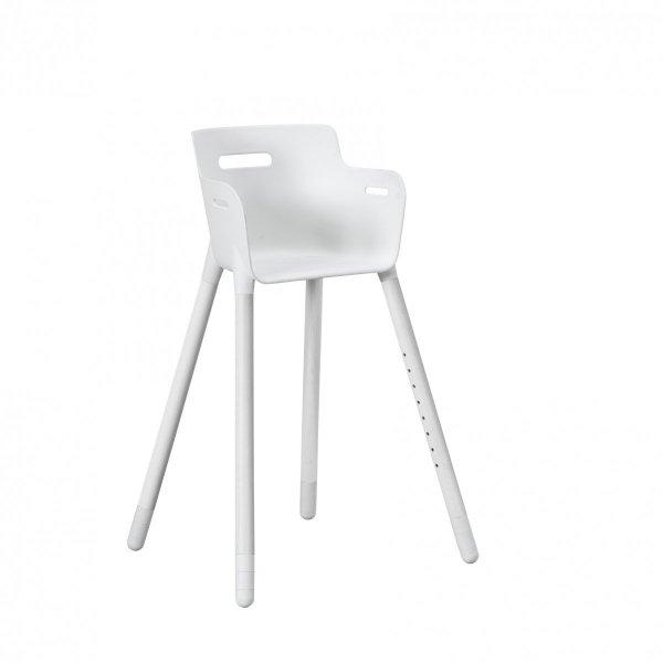 Krótkie nóżki do krzesełka dziecięcego białe Flexa Baby