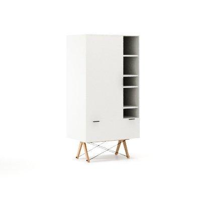 Nowoczesna szafa Minko Basic w kolorze białym