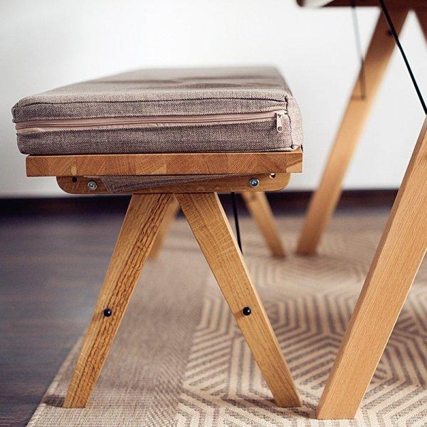 Stylowa ławka w stylu scandi Minko Woodie