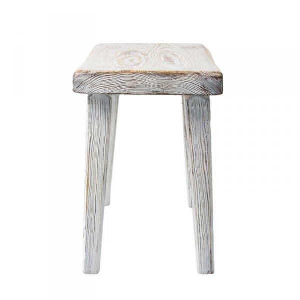 Drewniany taboret bielony 92 Gie El