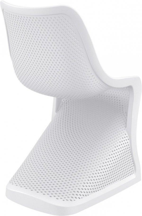 Krzesło Bloom Siesta z tworzywa białe