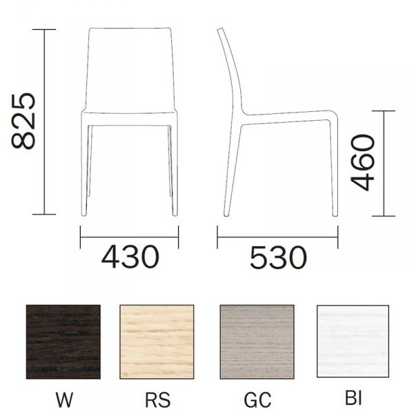 Krzesło Young 420 Pedrali wymiary