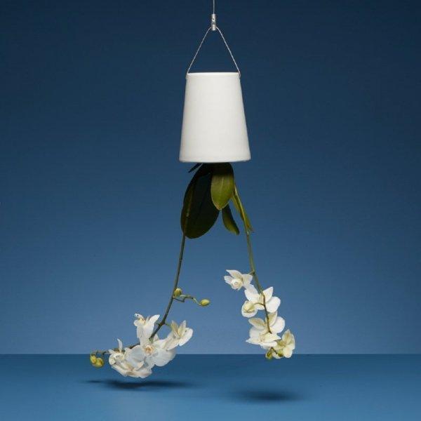 Nowy, bardziej funkcjonalny design wiszących doniczek Boskke Sky Planter ceramicznych