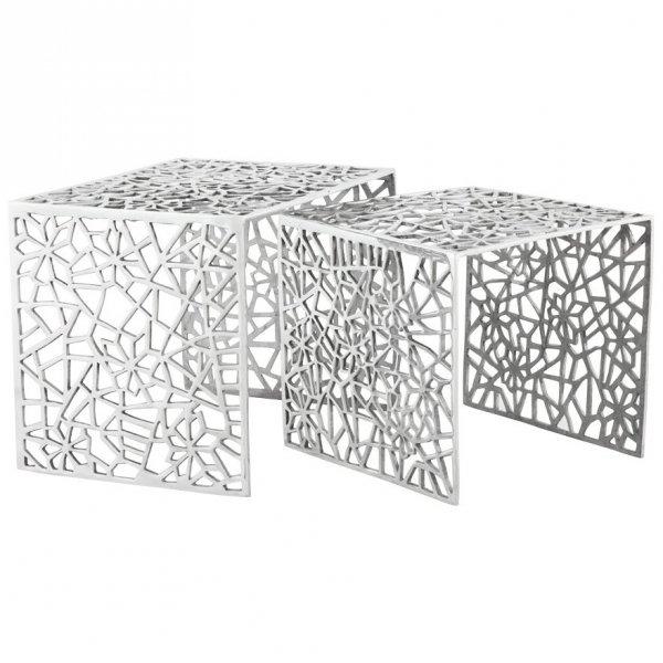 Biko zestaw aluminiowych stolików kawowych