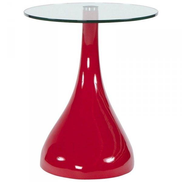 Designerski stolik Tear czerwony