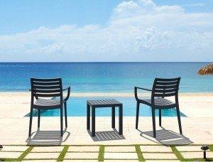 Krzesła Artemis i stolik Ocean siesta piękny zestaw na taras
